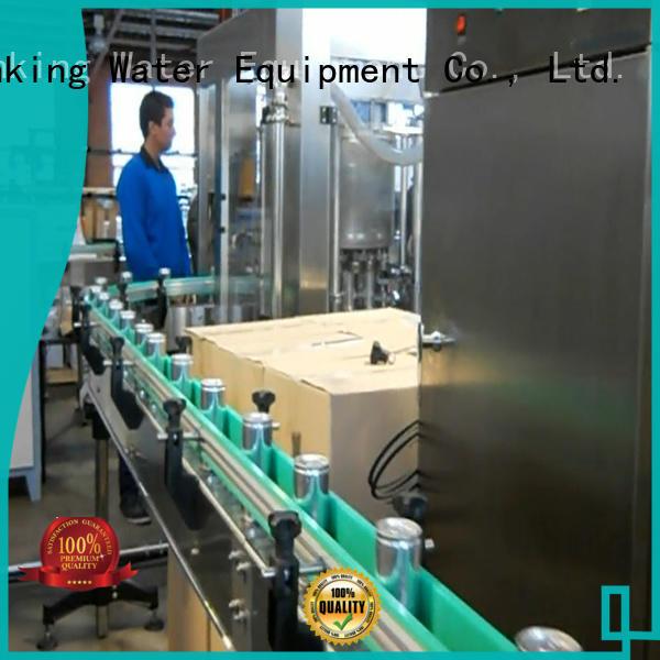 beverage carbonated drink filling machine complete aluminum J&D WATER Brand