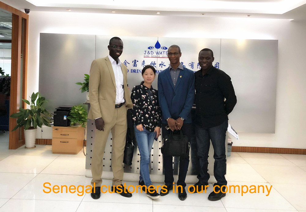 JD WATER-Senegal Customers In Our Company - Jd Water Beverage Machine