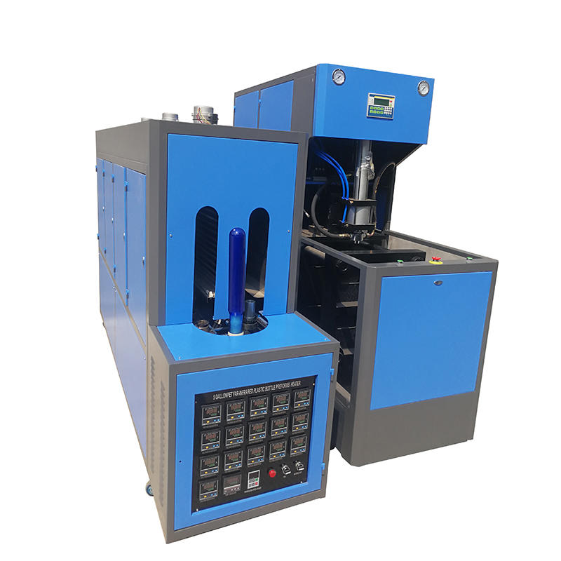 Máquina de moldeo por soplado semiautomática para botellas de 5 galones
