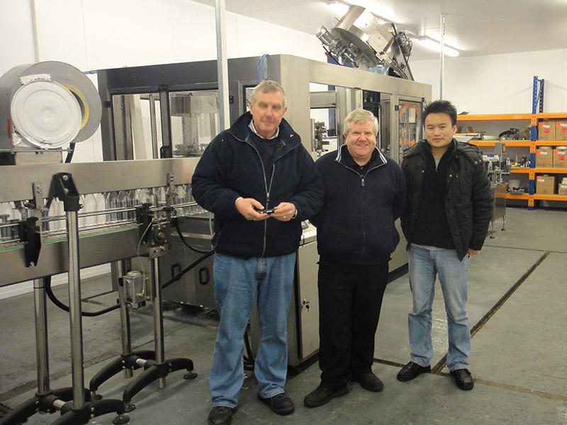 Shenzhen J&D Drinking Water install 4000-5000 carbonated drink line in United Kingdom