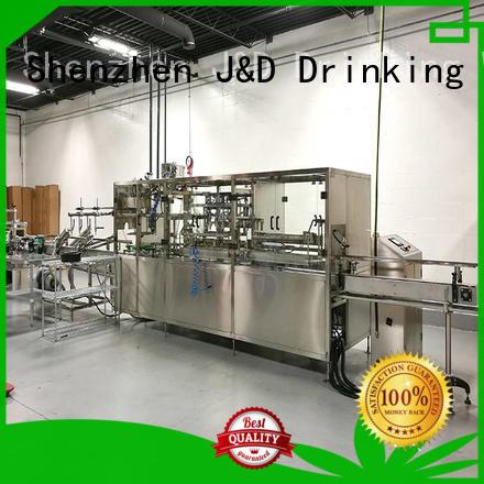 beverage water bottling line high efficiency pure water J&D WATER