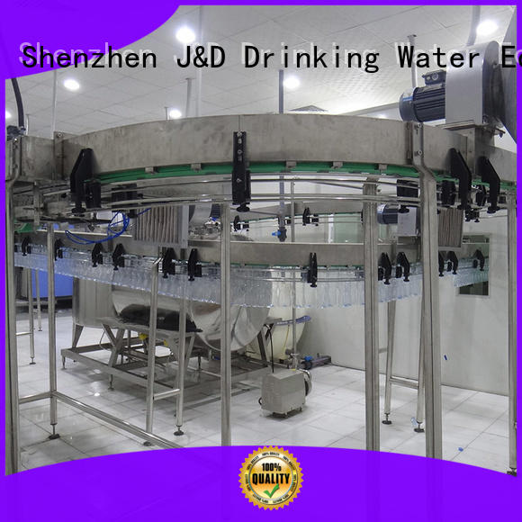 machine filling air conveyor systems J&D WATER Brand