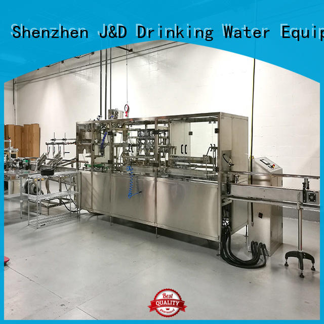 water bottling line beverage line product J&D WATER Brand company