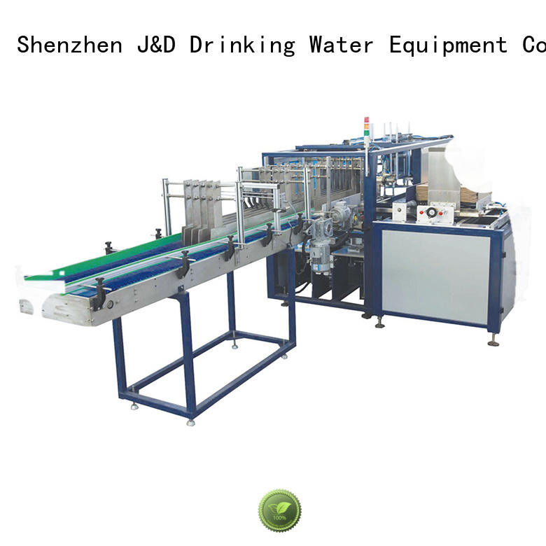 Custom machine wrapping cartoning machine J&D WATER carton