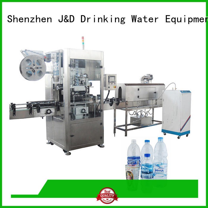 inserting sleeve machine J&D WATER Brand bottle labeling machine manufacturers manufacture