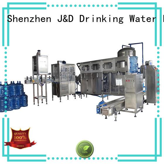 water filling line barrel gallon J&D WATER Brand