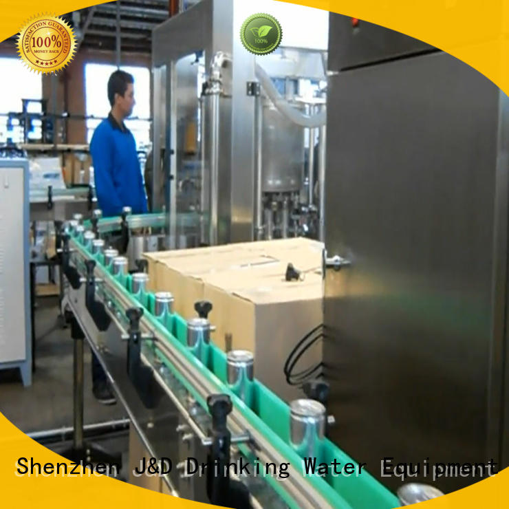 cans aluminum beverage product carbonated drink filling machine J&D WATER Brand