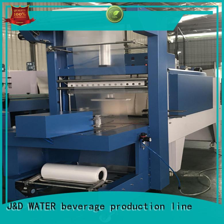 J&D WATER intelligent shrink machine stable performance for beverage