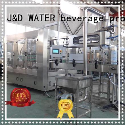 J&D WATER filling capping machine engineering for milk