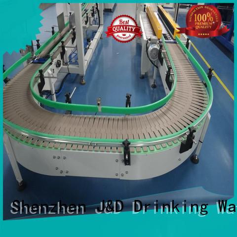 belt slat conveyor transfer for drinking water J&D WATER