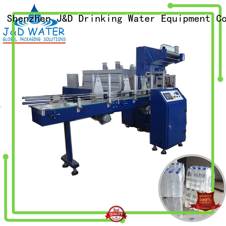 J&D WATER Brand automatic wrap shrink shrink packing machine