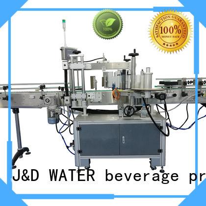 J&D WATER fast automatic sticker labeling machine standard for plastic bottle