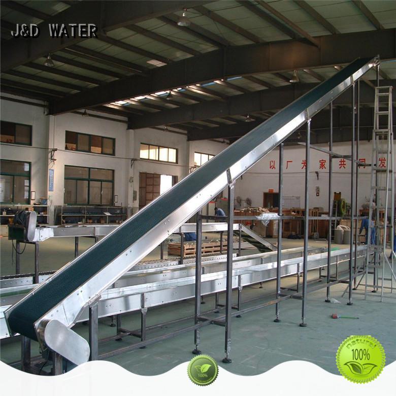 J&D WATER easy operation slat conveyor manufacturer for beverage,