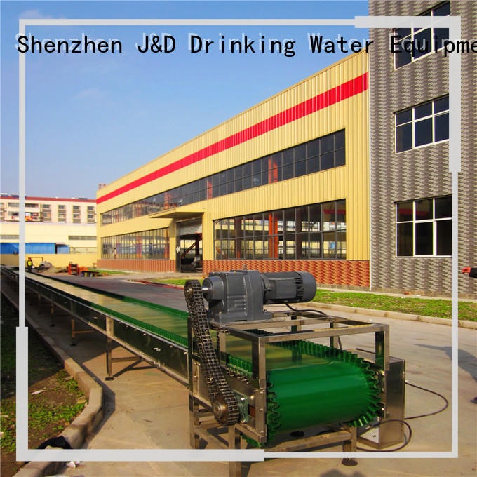 slat conveyor system for beverage, J&D WATER