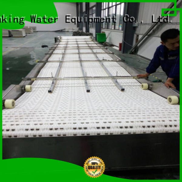 slat chain conveyor plastic for daily chemical J&D WATER