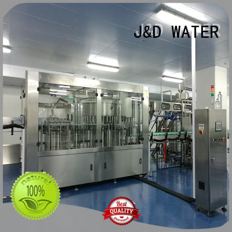 J&D WATER adjusted water bottling equipment convenient for PET