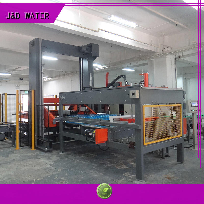 J&D WATER palletizer machine easy to operate for beer