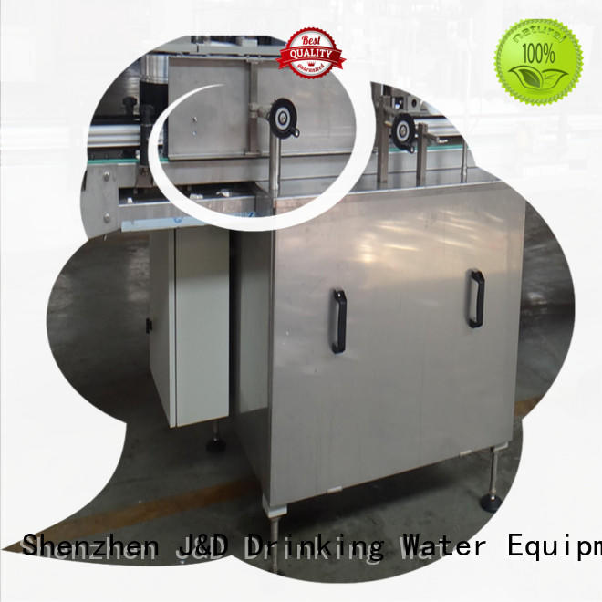 J&D WATER glue bottle sticker labeling machine standard label papers
