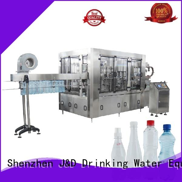 J&D WATER easy operation water bottle filling machine convenient for mineral water