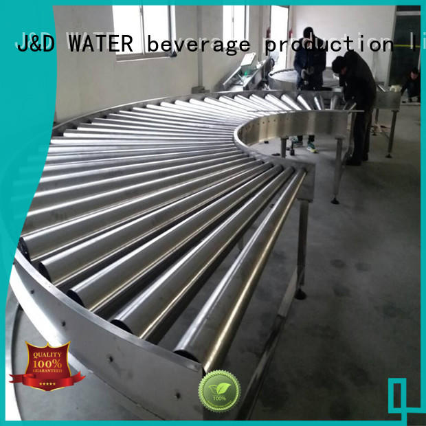 J&D WATER high quality spiral conveyor manufacturer for daily chemical