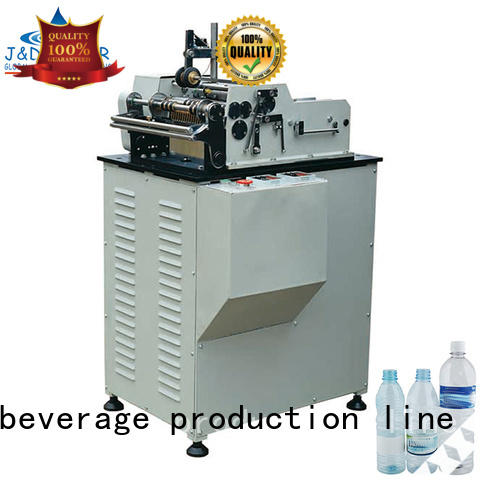 J&D WATER stainless steel semi automatic bottle labeling machine convenient for metal container