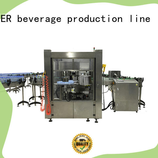 J&D WATER semi automatic bottle labeling machine quickly for plastic bottle