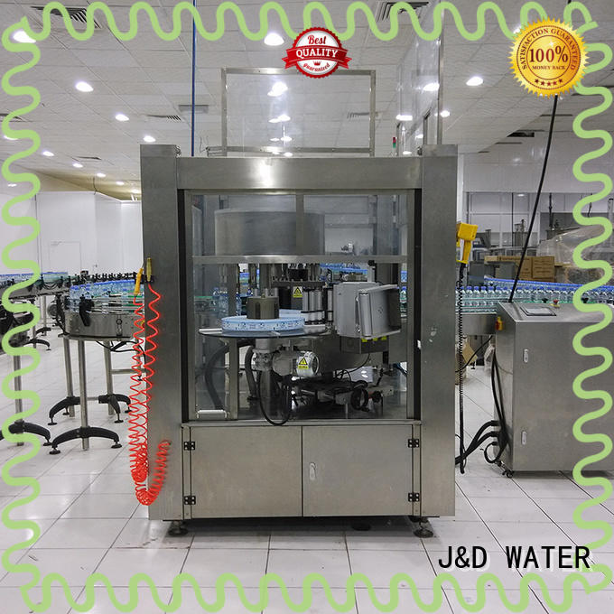 J&D WATER waterproof square bottle labeling machine adjustable for label papers
