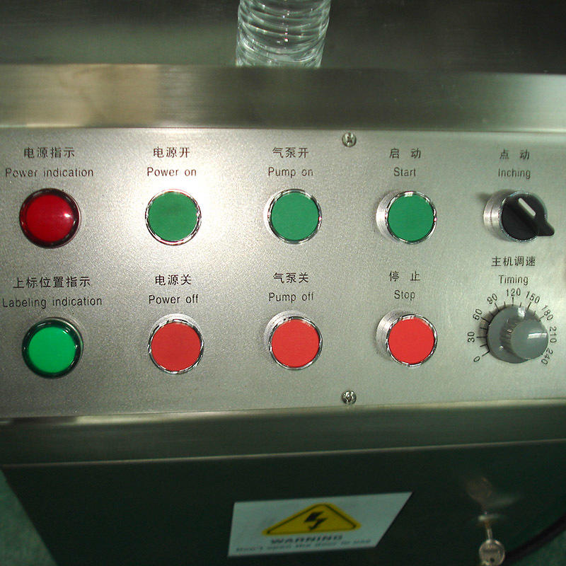J&D WATER stainless steel semi automatic labeling machine standard for metal container-3