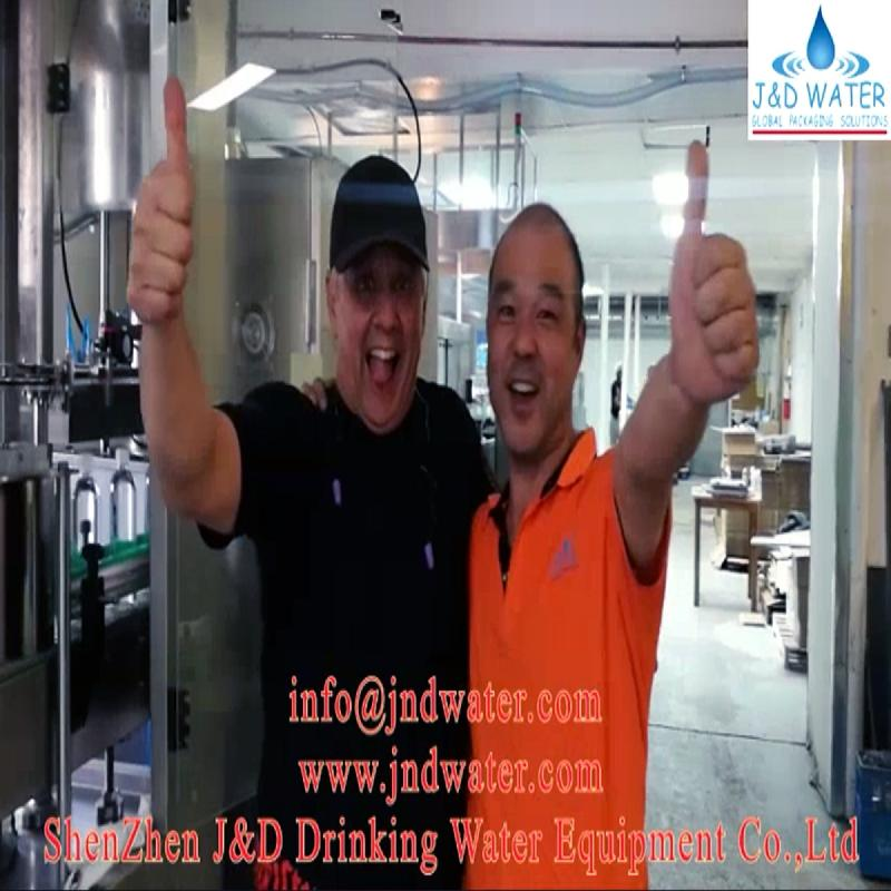 Shenzhen J&D Drinking Water installed and commissioned bottle water liner in Canada