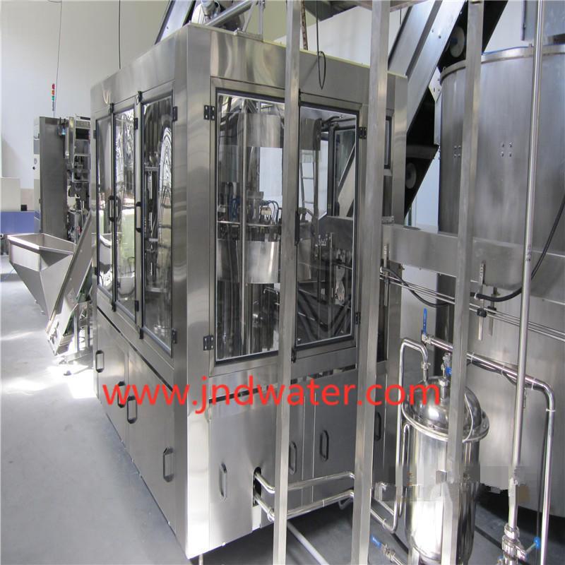 Máquina automática de lavado / llenado / tapado de bebidas calientes