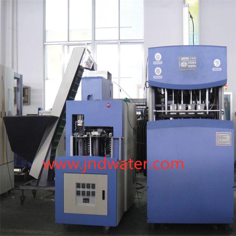 Полуавтоматическая машина для выдува 0,1-2 литра ПЕТ бутылки с 4 гнездом