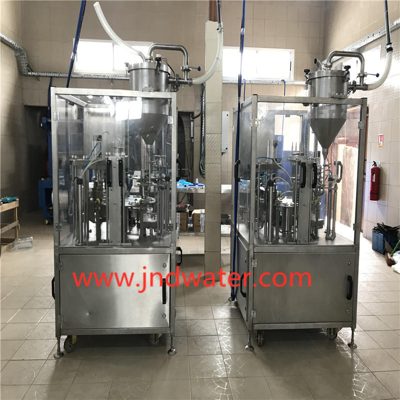 JNDWATER Máquina de llenado y sellado de vasos (rollo de película)