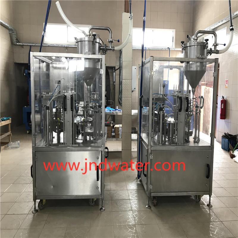 JNDWATER Машина для наполнения и запечатывания стаканчиков (рулонная пленка)