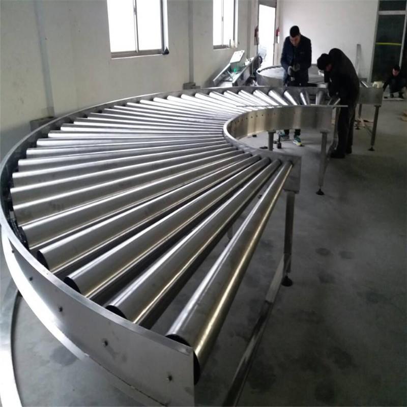 J&D WATER motorized roller conveyor high efficiency for beverage