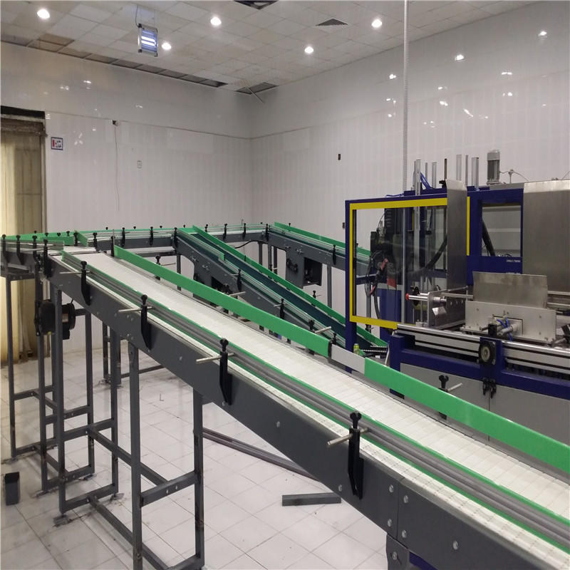 easy transport slat conveyor stability for food