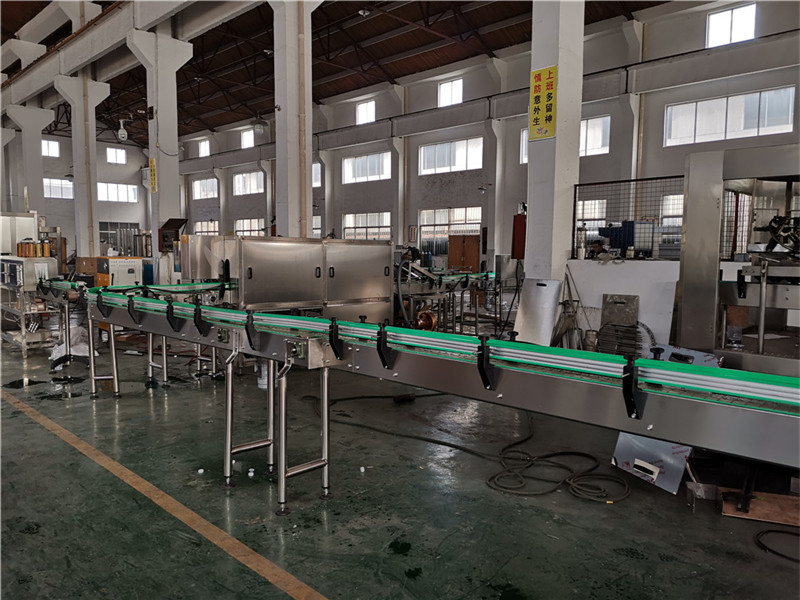 JD WATER-Oil Filling Machine-jndwater Chain Conveyor Factory Inspection