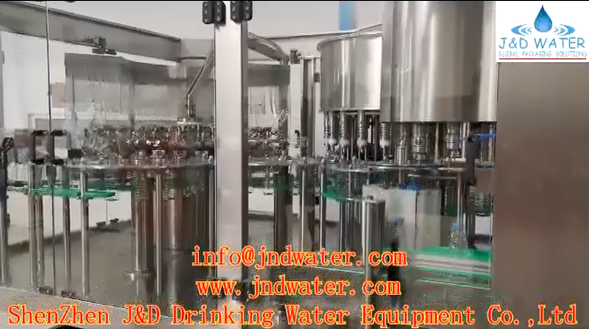 ShenZhen J&D Drinking Water Equipment Co.,Ltd.'s 330ml water production line in Senegal-J&D WATER