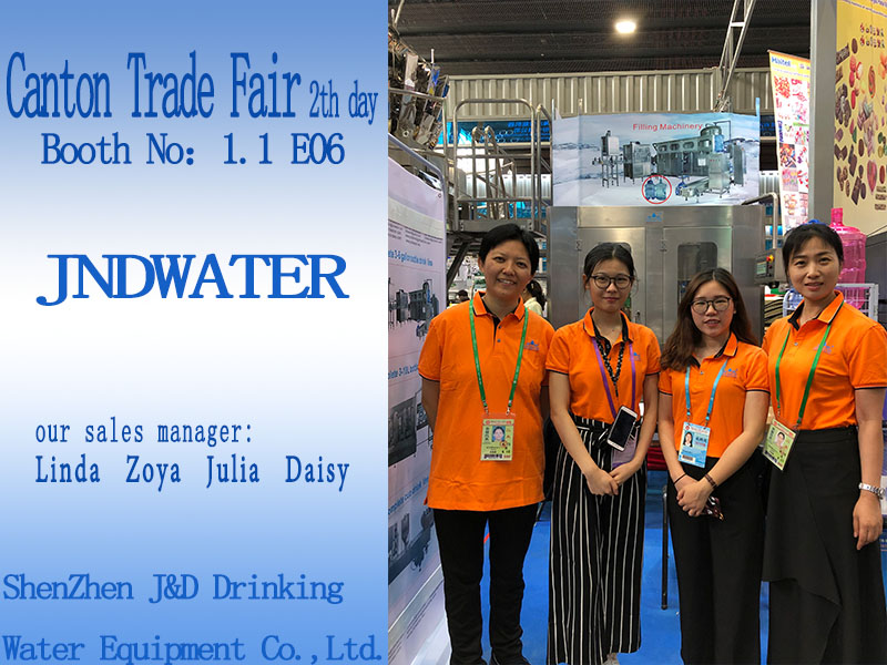 JD WATER-Bottling Line-jndwater Canton Trade Fair 2th Day