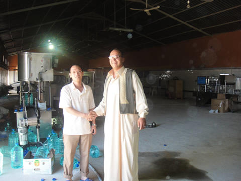 Shenzhen J&D Drinking Water install 7L and 1500ml bottled water line in Libya