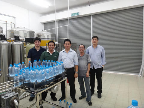 Shenzhen J&D Drinking Water install 2000 bph bottled water line in Brunei