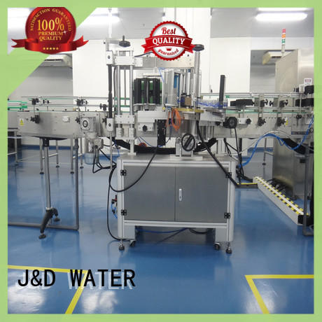 J&D WATER Automatic self adhesive labeling machine quickly for glass bottle