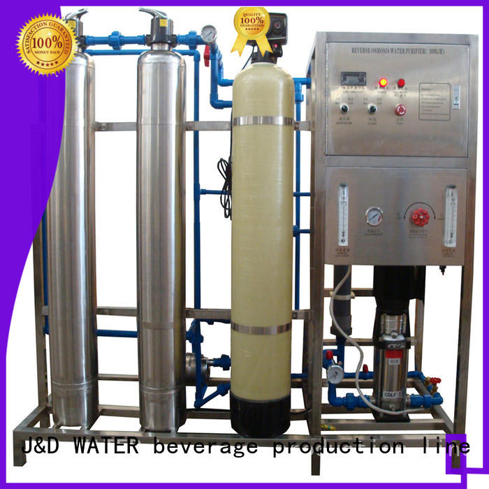 J&D WATER reverse osmosis water filter system with Glass Tank for water treatment