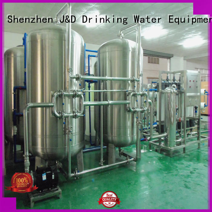 plant mineral water purification machine softener for food J&D WATER