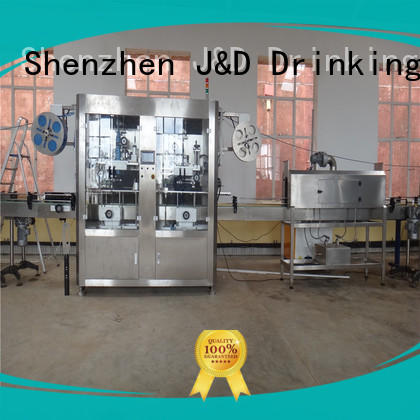 J&D WATER waterproof sleeve labeling machine convenient for metal container