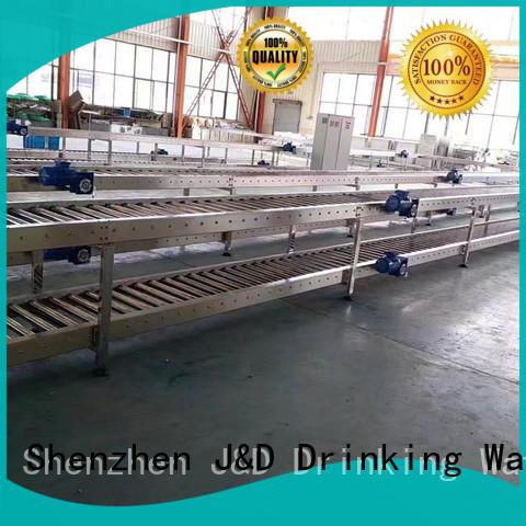 quick roller conveyor system manufacturer for food J&D WATER