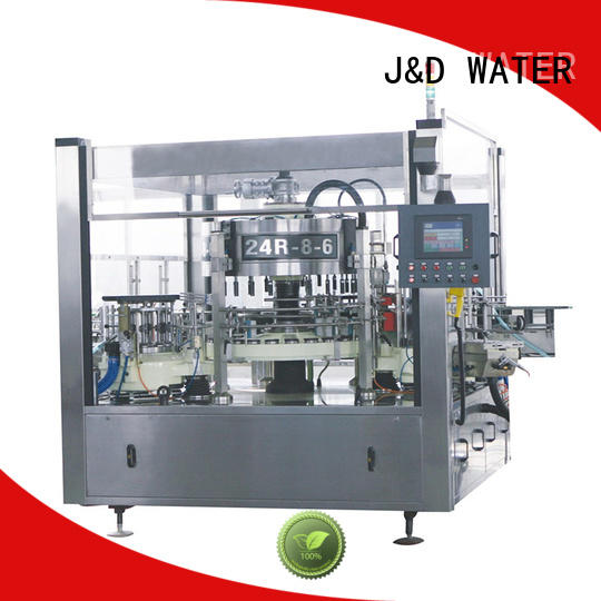 J&D WATER anti-rust semi automatic labeling machine intellectual control for metal container