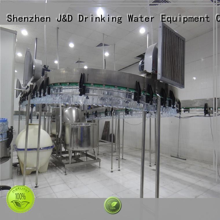 jndwater bottle conveyor line food J&D WATER