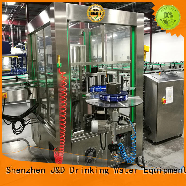 J&D WATER water bottle labeling machine quickly for metal container