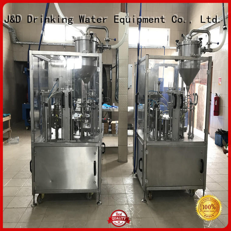Quality J&D WATER Brand automatic filling cup sealing machine