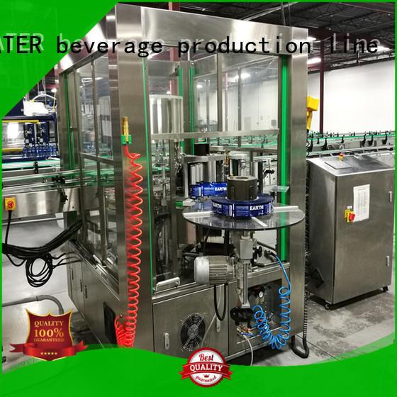 J&D WATER semi automatic bottle labeling machine standard for glass bottle